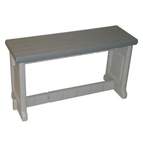bench home depot safavieh khara ash gray patio bench pat6705a the home depot