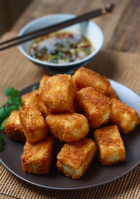 fried tofu recipe fried tofu with sesame soy dipping sauce season with spice