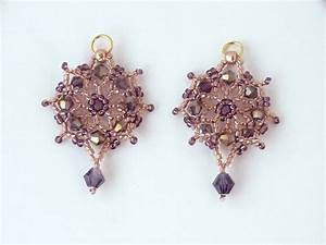 Free Beading Pattern For Crystal Net Earrings
