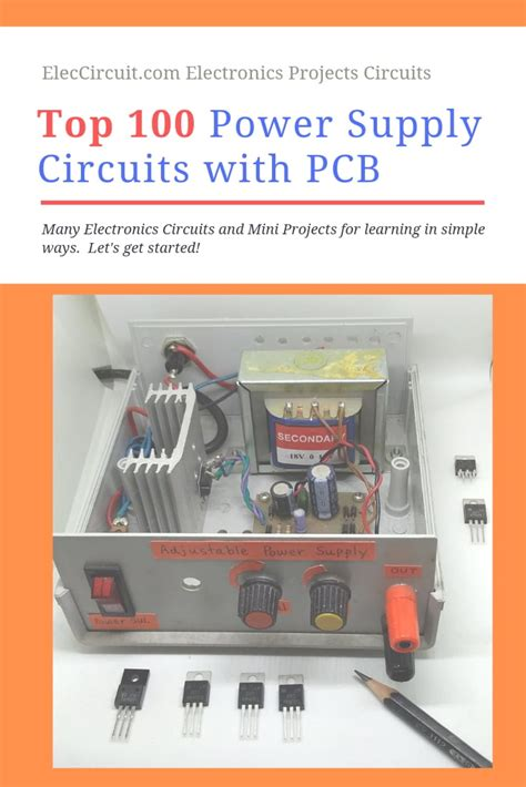 Power Supply Circuit Diagram With Pcb Eleccircuit