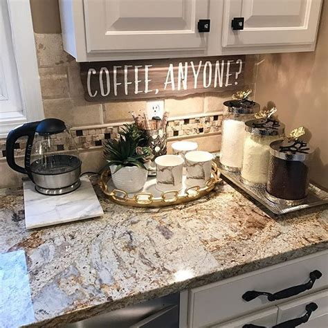 Kitchen Decorating Ideas On Countertops by Personalized Home Coffee Bar Ideas Coffee Coffee Coffee
