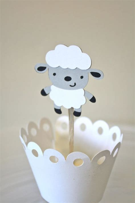 baby sheep cupcake toppers cake topper by