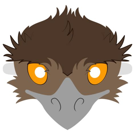emu mask template  printable papercraft templates