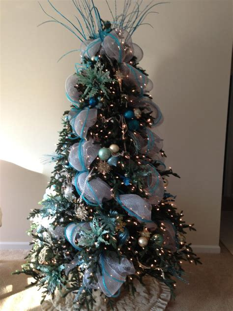 glamorous pre lit christmas trees in landscape traditional