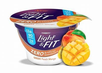 Yogurt Greek Mango Peach Dannon Sweeteners Artificial