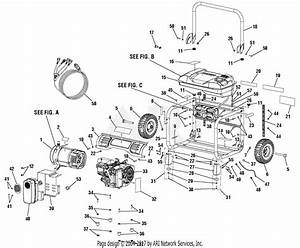 Homelite Hu5000 Series 5 000 Watt Generator Parts Diagram For General Assembly