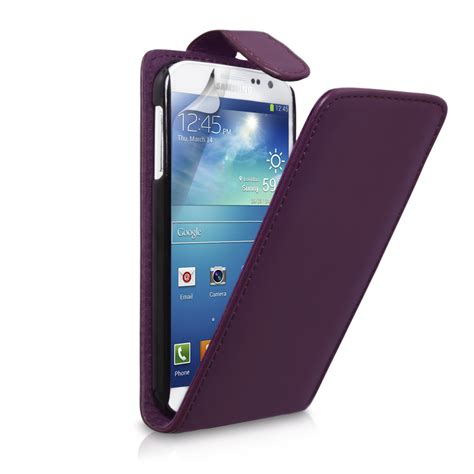 Galaxy S4 Flip Cover 2840 by Samsung Galaxy S4 Faux Purple Leather Flip Mobi