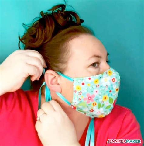 diy face mask patterns filter pocket adjustable ties