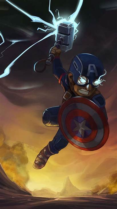 Captain Hammer America Thor Iphone Wallpapers Iphoneswallpapers