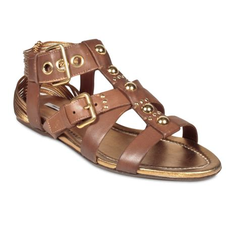 s designer sandals miumiu s designer shoes brown leather