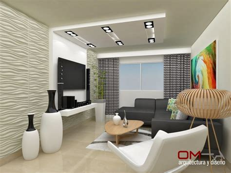 diseno interior en apartamento espacio sala salas