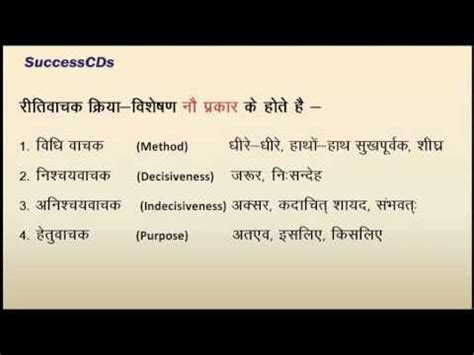 kriya visheshan adverbs learn hindi
