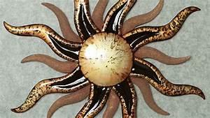 Metall Sonne Für Hauswand : 33 verbl ffende ideen f r wanddeko aus metall ~ Whattoseeinmadrid.com Haus und Dekorationen