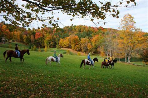 riding horseback vermont england fall woodstockinn woodstock