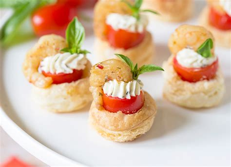 party appetizer shrimp tomato pastry tartlets pizzazzerie