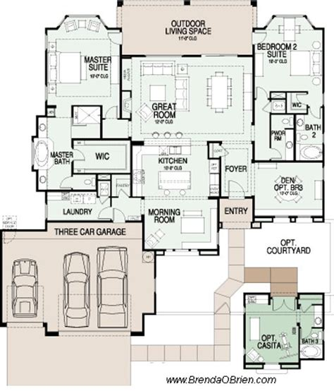 saddlebrooke preserve floor plan sabino model ranch house plans bungalow floor plans ranch
