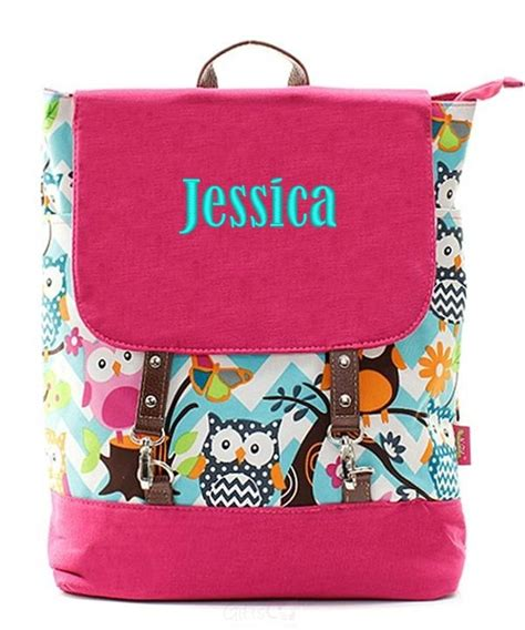 personalized  knapsack backpack book bag tote monogram