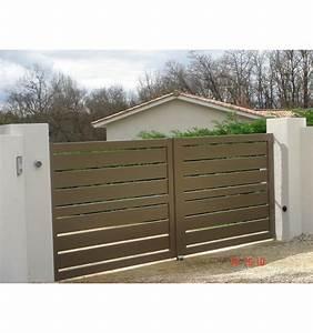 Portail Alu En Kit : portail battant ajour alu lame 170 mm sur mesure leportailalu ~ Edinachiropracticcenter.com Idées de Décoration