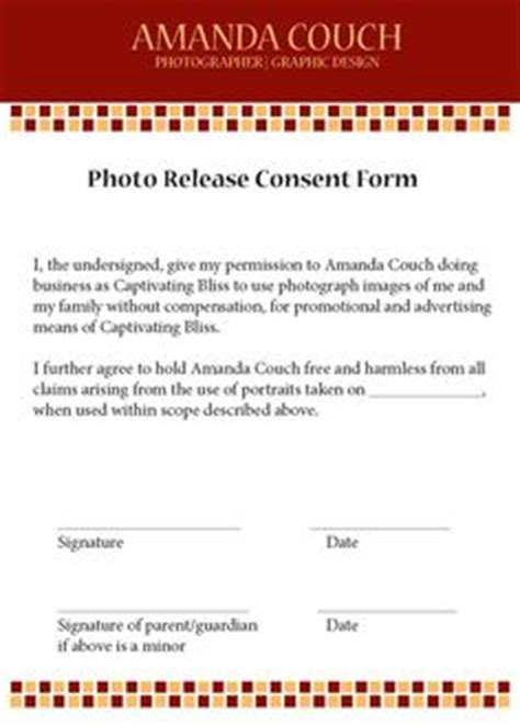 photographer print release form photographers creative