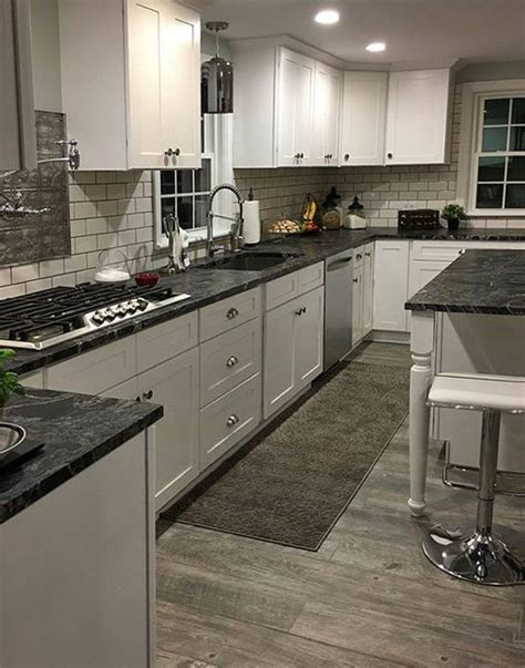 black kitchen cabinets with white countertops tuscany white kitchen cabinets in 2019 dream home 755   d559d8e91b65db497f08ae52fea6a423
