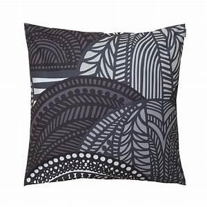 marimekko vuorilaakso grey large throw pillow marimekko With big grey pillows