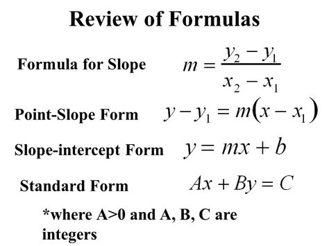 Slope Equation Formula by Warm Up Solve Each Equation For Y 1 7x 2y Ppt Video