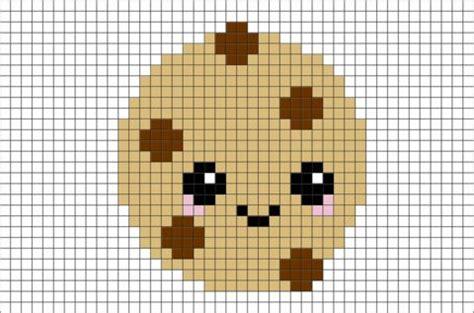 cookie pixel art pixel art pixel drawing minecraft