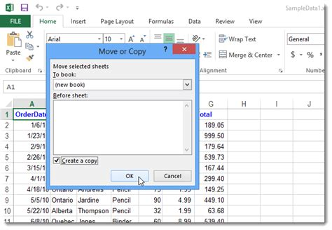 how to easily move or copy a worksheet in excel 2013