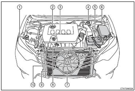 toyota corolla owners manual engine compartment
