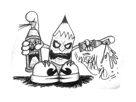 How to draw graffiti character Pencil Joker Como dibujar