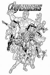 Avengers Coloring Pages Print Boys sketch template