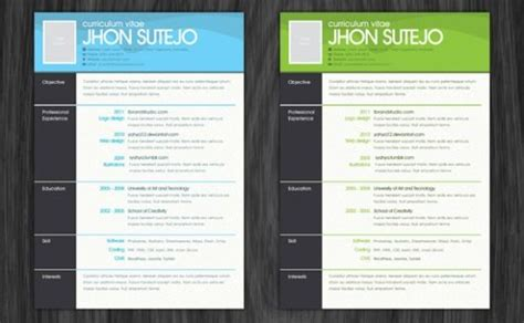 free resume photoshop templates career trends