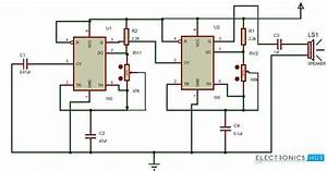 Ding Dong Sound Generator Door Bell Circuit Using 555