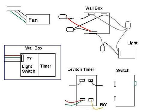electrical wiring leviton timer to bath fan and switch