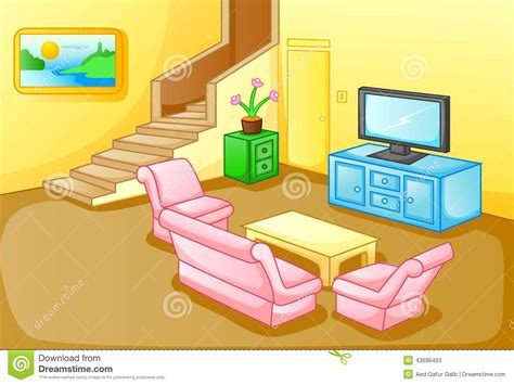 Interior Of A House Living Room Stock Vector