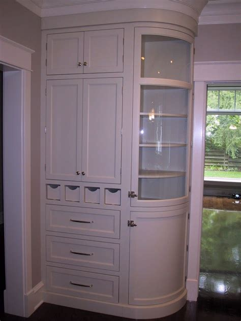 curved kitchen cabinets handmade curved glass cabinet by woodworking unlimited inc