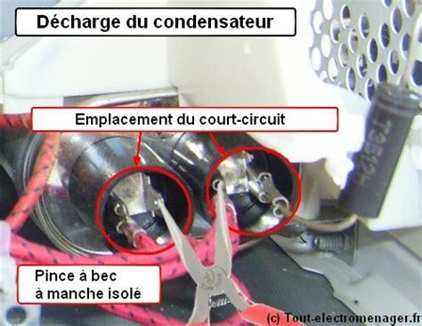 ou se trouve le condensateur sur un seche linge micro ondes brandt sm2600w ne chauffe plus mais tous fonctionne r 233 solu