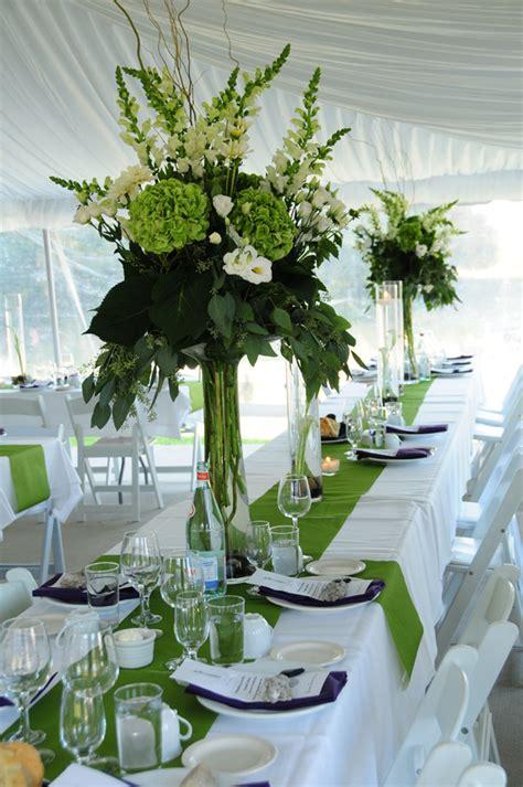 green country wedding with green wedding reception table centerpieces wedding ideas