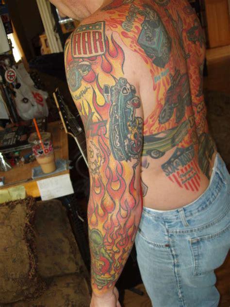rat fink sleeve tattoo