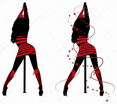 Pole Dance Silhouettes Siluetas Woman Ballo Palo