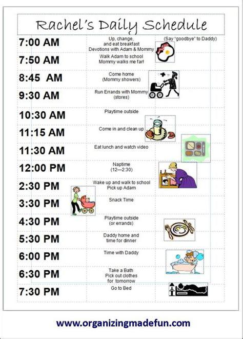 kids schedule  schedule  great  kids