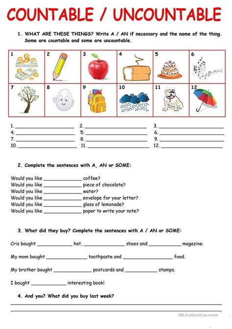 countable and uncountable nouns worksheets for grade 2 pdf countable uncountable nouns worksheet free esl printable