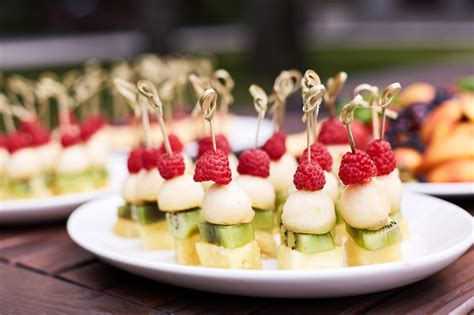 healthy canapes dinner business catering bath venues