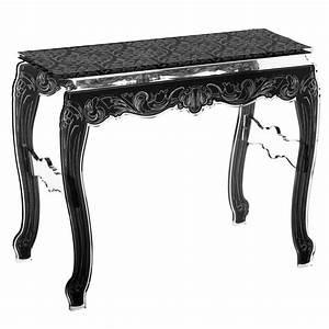 Console Baroque Noire : console acrylique baroque dessus noir mobilier ~ Teatrodelosmanantiales.com Idées de Décoration