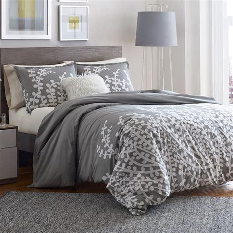 city scene branches gray comforter  duvet set