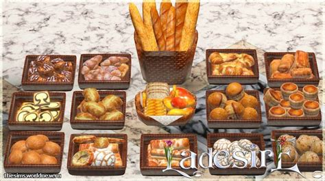 sims 3 cuisine ladesire 39 s creative corner bread collection updated