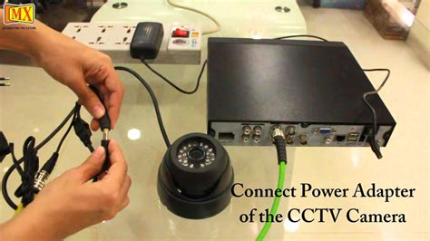 connect cctv cameras   monitor  dvr