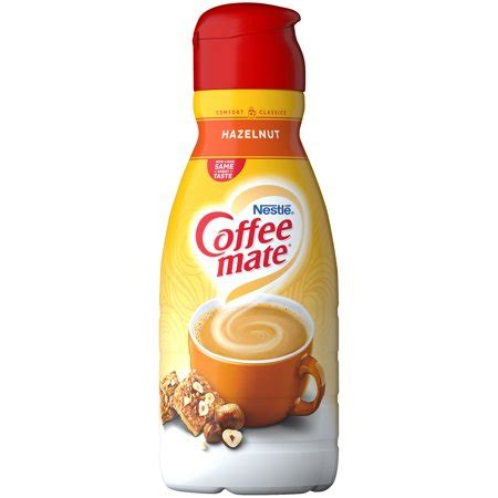 Sugar free hazelnut liquid coffee creamer. COFFEE MATE Hazelnut Liquid Coffee Creamer 32 fl. oz. Bottle - Walmart.com