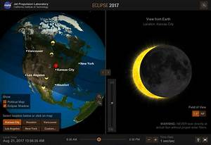 NASA Eyes on the Solar System' offers simulation eclipse 2017