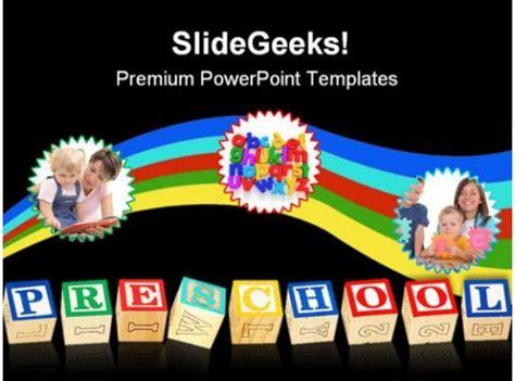 preschool education powerpoint template  powerpoint